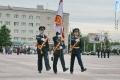 Церемония передачи знамени ВЧ 41125