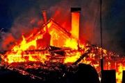 Сегодня под Каменском-Уральским полностью выгорел частный жилом дом