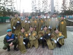 Школьники из Каменска-Уральского приняли участие в областной патриотической акции «Пост №1»