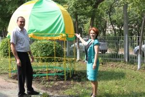 В детском саду №22 Каменска-Уральского обновили малые архитектурные формы и планируют сделать уголок для релаксации