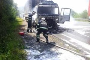 Сегодня утром под Каменском-Уральским горел КАМАЗ