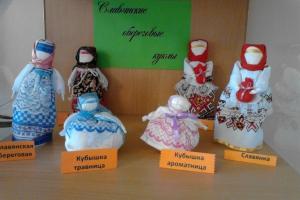 В Каменске-Уральском открылась выставка славянских обереговых кукол