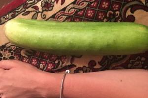 Жительница Каменска-Уральского вырастила в своем саду гигантские огурцы размером с кабачок