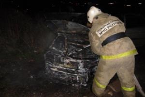 В течение пяти часов сегодня ночью в Каменске-Уральском и районе зарегистрировано два возгорания автомобилей