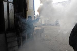 В Каменске-Уральском пожарные провели эффектные учения в торговом центре