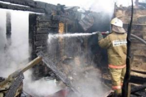 В четверг под Каменском-Уральским сгорел частный жилой дом. Пострадавших нет