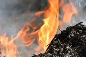Несмотря на холодную погоду, во вторник в Каменске-Уральском зарегистрировано сразу четыре случая загорания мусора