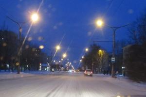 В Каменске-Уральском продолжается обновление наружного освещения улиц