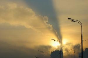 Над Каменском-Уральским уже привычный смог. Он развеется только к вечеру четверга
