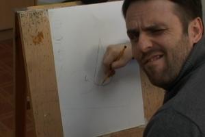 Конус с яблоком. Урок рисунка. Так се художник. Попробовано на себе