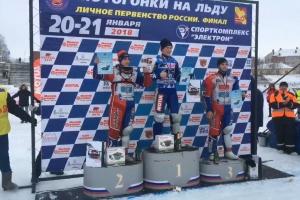 Представители Каменска-Уральского завоевали серебро и бронзу первенства России по ледовому спидвею среди юниоров
