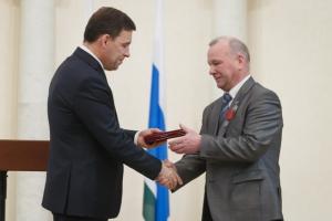 Токаря-карусельщика Каменск-Уральского литейного завода Егора Завьялова наградили медалью ордена «За заслуги перед Отечеством»