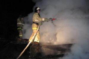 Сегодня ночью в Каменске-Уральском произошел пожар на улице Байновская