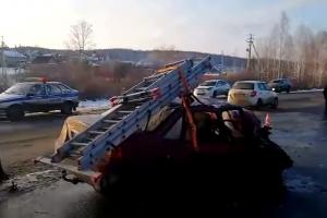 38-летний житель Каменска-Уральского пострадал в ДТП под Дегтярском. Видеоподробности аварии