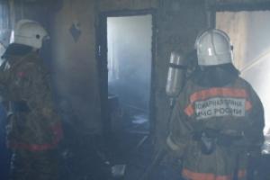 15 марта утром в Каменске-Уральском горел частный жилой дом на улице Ленина