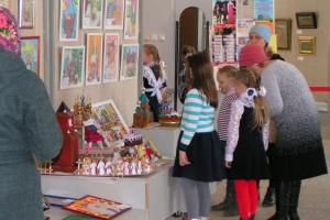 В Выставочном зале состоялось открытие выставки лучших работ конкурса детского творчества «Пасха Красная – красный звон»