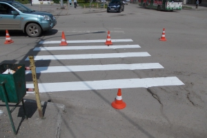 Почти шесть миллионов рублей потратят в Каменске-Уральском на разметку дорог