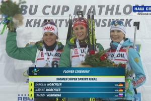 Главная биатлонная награда Каменска-Уральского. Тамара Воронина завоевала бронзу на этапе Кубка IBU и вошла в историю российского биатлона. Фотоподробности гонки