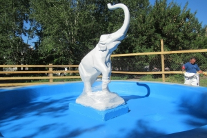 Завершается реставрация фонтана «Слоненок» в Красногорском районе Каменска-Уральского