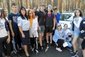 В загородном лагере «Красная горка», что под Каменском-Уральским, дети смогли почувствовать себя полицейскими