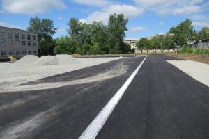 В Каменске-Уральском продолжается реконструкция стадиона лицея №10