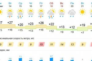 Каменску-Уральскому обещают жаркую и дождливую неделю. Но потом на пару дней похолодает