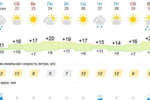 После дождливой пятницы Каменск-Уральский ждут пять солнечных дней