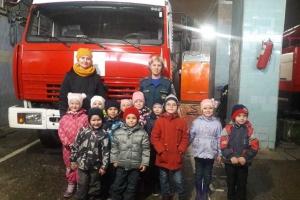 Воспитанники детских садов Каменска-Уральского  побывали на экскурсии в 63 пожарно-спасательной части