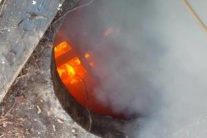 22 октября горел мусор в коллекторе на улице Рябова в Каменске-Уральском. Есть погибший