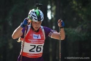 Тамара Воронина из Каменска-Уральского была девятой в индивидуальной гонке на чемпионате России по летнему биатлону