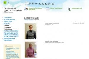 На официальном сайте дирекции единого заказчика Каменска-Уральского полностью обновлена база сотрудников жилищных участков