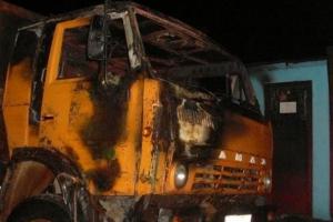 17 декабря утром в Каменске-Уральском горела кабина КАМАЗа